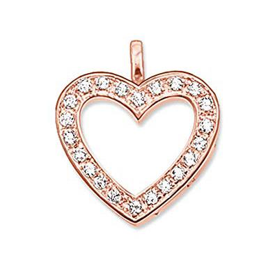 Buy Thomas Sabo Rose Gold Open CZ Heart Charm
