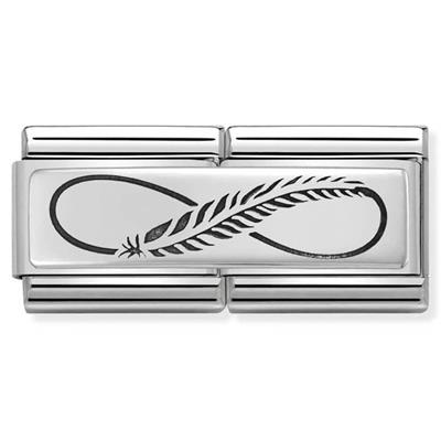 Buy Nomination Silver Infinity Feather Double Charm