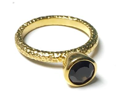 Buy Azuni Smokey Quartz Ring Size 51