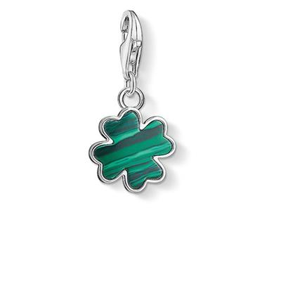 Buy Thomas Sabo Silver Malachite Clover Charm