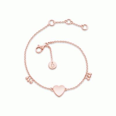 Buy Daisy Little Heart Rose Gold Good Karma Bracelet