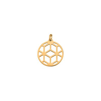Buy Les Georgettes Medium Gold Round Resille Pendant