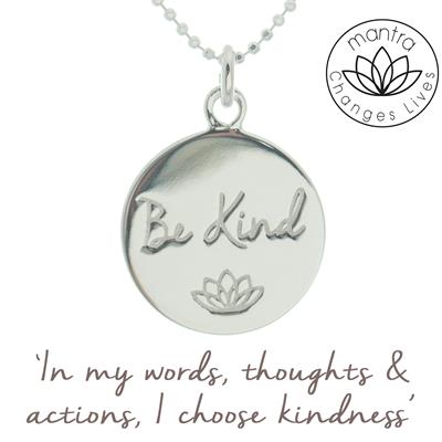 Buy Mantra Be Kind Bullying UK Charity Necklace in Silver