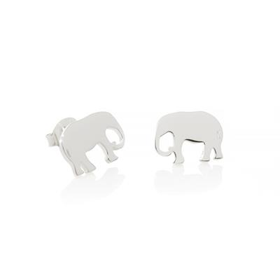 Buy Daisy Elephant Silver Good Karma Stud Earrings