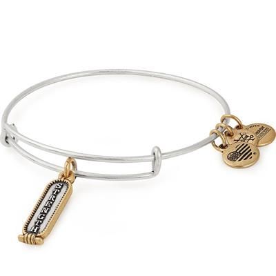 Buy Alex and Ani Two Tone Strength Bangle in Rafaelian Silver