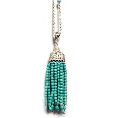 Buy Diana Wilson Turquoise Tassel Necklace