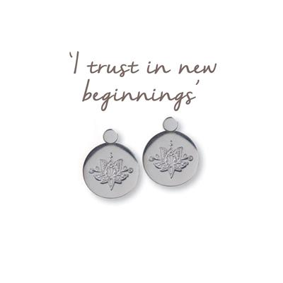 Buy Mantra Lotus New Beginnings Earrings in Sterling Silver
