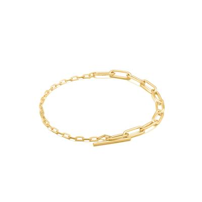 Buy Ania Haie Chain Reaction Gold Mixed Link T-Bar Bracelet