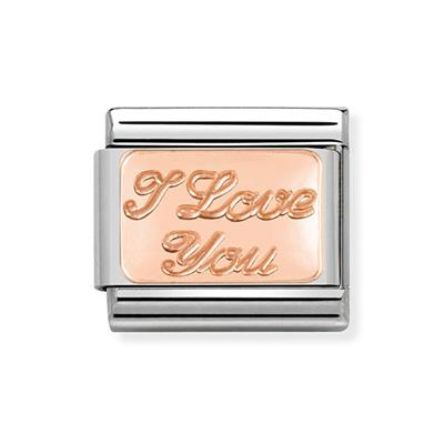 Buy Nomination Rose Gold I Love You Plate Charm