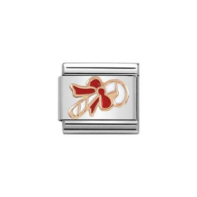 Buy Nomination Rose Gold Enamel Candy Cane Charm