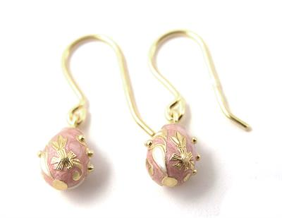 Buy Alfaberge Floral Egg Drop Earrings