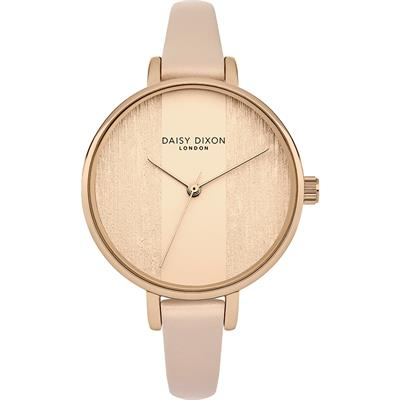 Buy Daisy Dixon Rose Gold Blush Leather Simone Watch