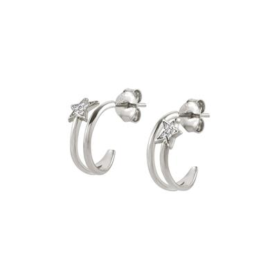 Buy Nomination Silver CZ Stella Hoop Earrings