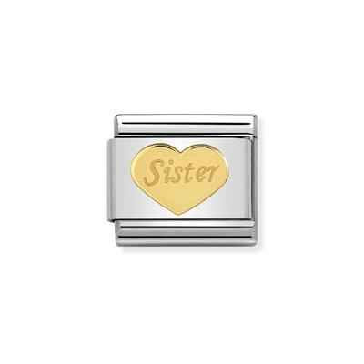 Buy Nomination Gold Sister Heart Charm
