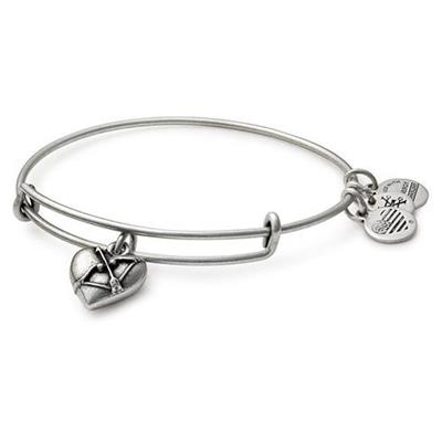 Buy Alex and Ani Cupid's Heart II bangle in Rafaelian Silver
