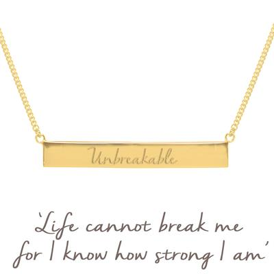 Buy Mantra Holly Matthews Unbreakable Bar Necklace in Gold