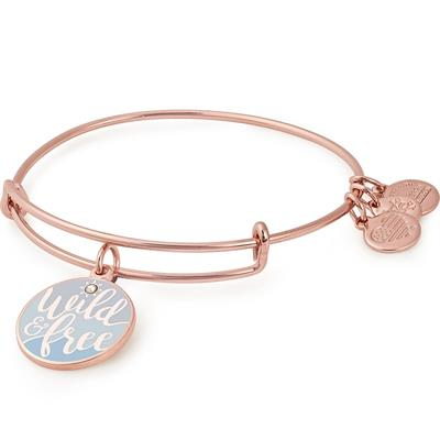 Buy Alex and Ani Wild And Free Colour Infusion Bangle in Shiny Rose Gold