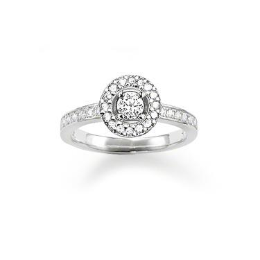 Buy Thomas Sabo GLAM & SOUL Silver Round CZ Ring Size 52