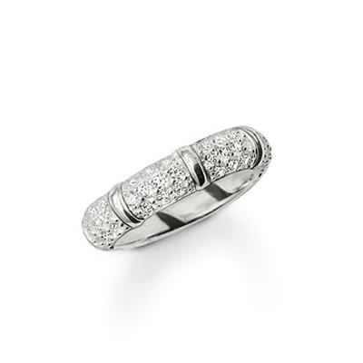 Buy Thomas Sabo Clear CZ Bamboo Ring Size 54