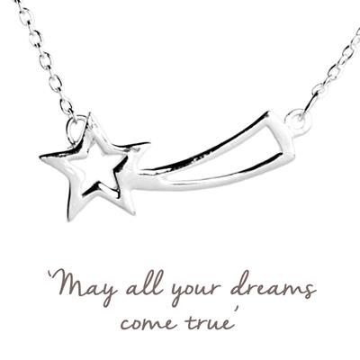 Buy Mantra Shooting Star Necklace in Silver