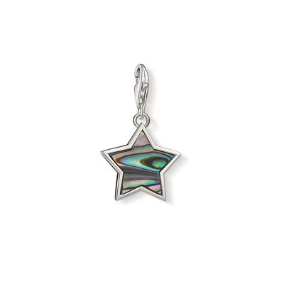 Buy Thomas Sabo Silver Black Mother of Pearl Star Charm