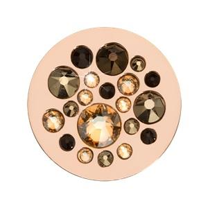 Buy Nikki Lissoni Sparkling Coin With Peach and Black Swarovski Crystals 23mm