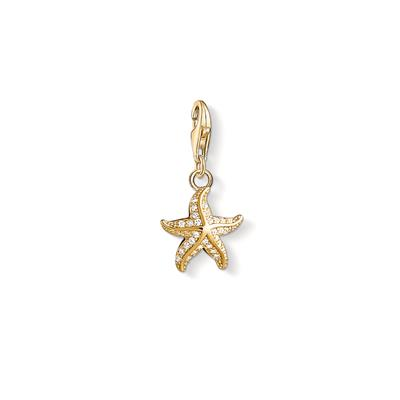 Buy Thomas Sabo Gold CZ Starfish Charm