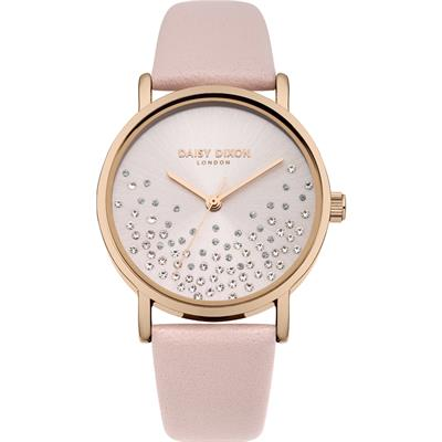 Buy Daisy Dixon Astra Blush Leather Sunray Watch