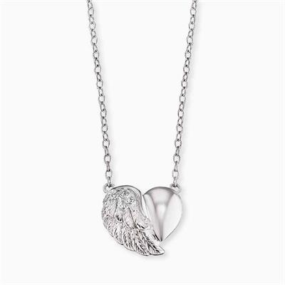 Buy Engelsrufer Silver Heart Wing Necklace