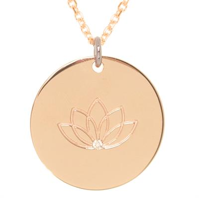 Buy MyMantra CZ Lotus Rose Gold Personalised Necklace 80cm