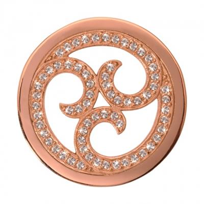 Buy Nikki Lissoni Rose Gold Sparkling Curls Coin 33mm