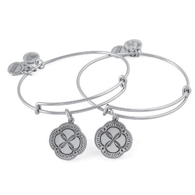 Buy Alex and Ani Infinite Connection Set of 2 in Rafaelian Silver