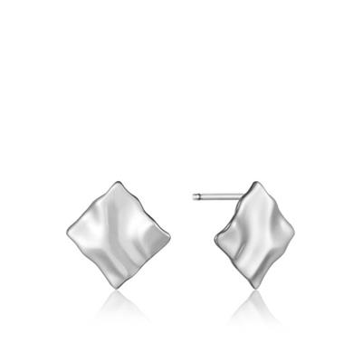 Buy Ania Haie Silver Crush Square Studs