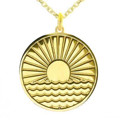 Buy MyMantra Sun Rising Over Water myMantra Necklace in Gold