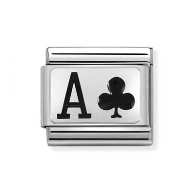 Buy Nomination Silver and Enamel Ace of Clubs
