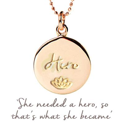 Buy Mantra Julie Montagu Hero Disc Necklace in Rose Gold