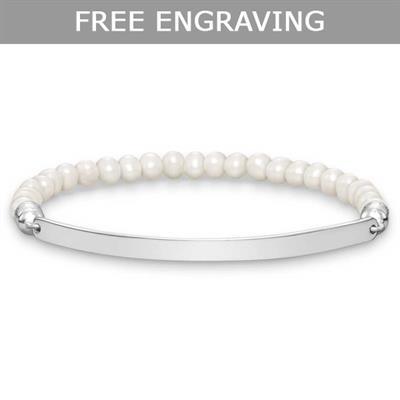 Buy Thomas Sabo Thin Love Bridge Pearl Bracelet Medium