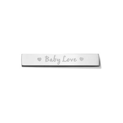 Buy Take What You Need Silver Toned Baby Love Bar
