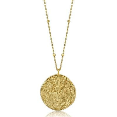Buy Ania Haie Gold Beaded Chain Coin Necklace