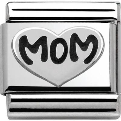 Buy Nomination Silvershine Mom in Heart Charm