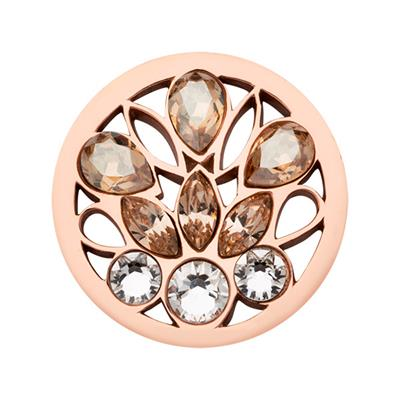 Buy Nikki Lissoni Rose Gold Swarovski Peacock Coin 23mm