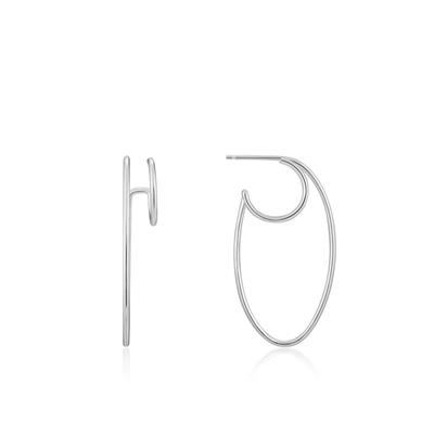 Buy Ania Haie Ear We Go Silver Oval Double Hoop Earrings