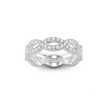 Buy Thomas Sabo Silver CZ Knot Ring Size 50