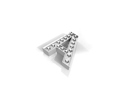 Buy Key Moments Silver Crystal Letter A