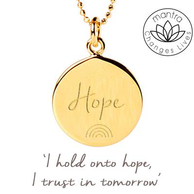 Buy Mantra Hope NHS Charities Together, Charity Necklace in Gold