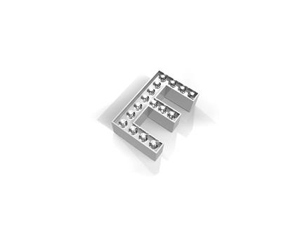 Buy Key Moments Silver Crystal Letter E