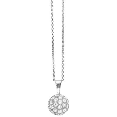 Buy Tresor Paris Allure Sterling Silver & White Crystal Orb Necklace