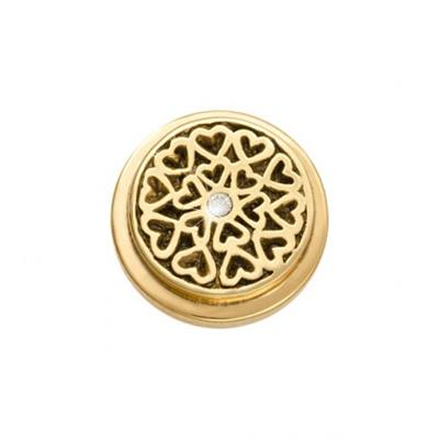 Buy Nikki Lissoni Gold Hearts All Over Ring Coin