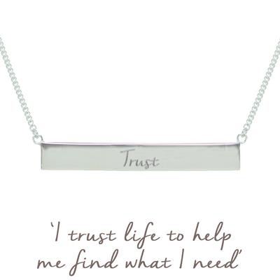 Buy Mantra Nicky Clinch Trust Bar Necklace - Silver