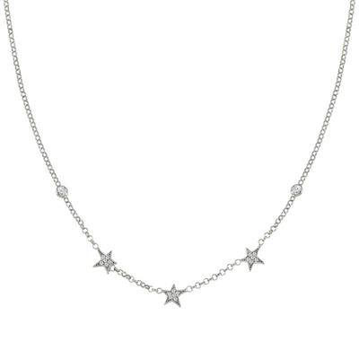 Buy Nomination Silver Stella 3 Star CZ Necklace